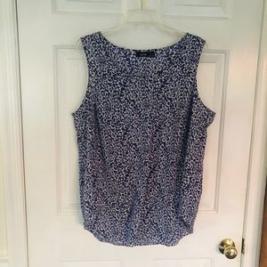 Blue Leopard Top
